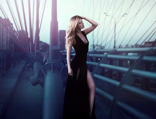 Vestito nero lungo