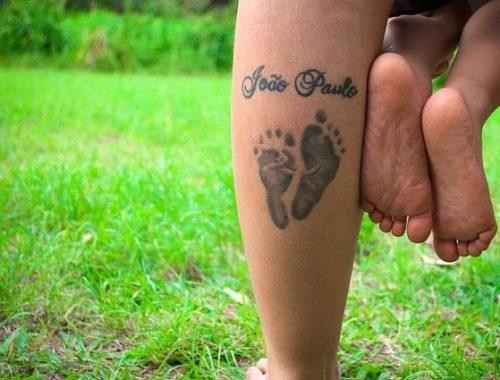 Tatuaggio madre e figlio