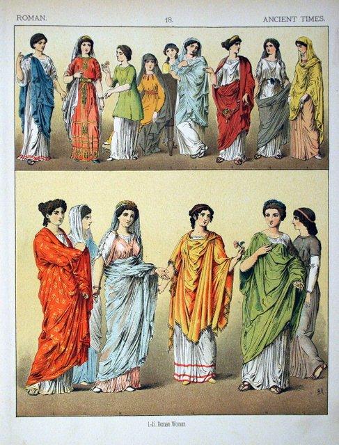 Abbigliamento femminile antica Roma